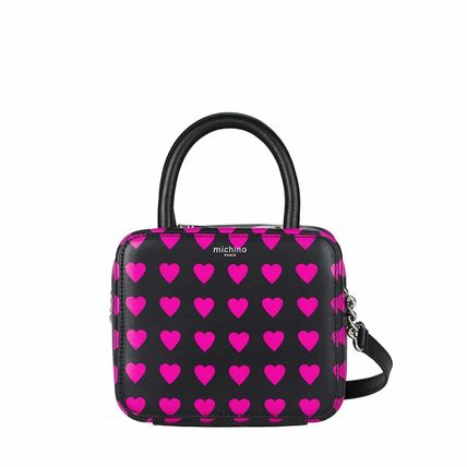 Zebra Patterns Heart Casual Style Calfskin Crossbody