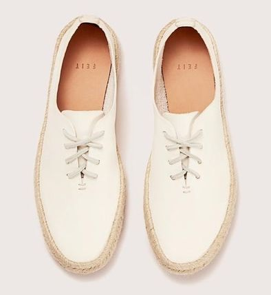 Round Toe Rubber Sole Casual Style Suede Plain Leather