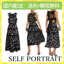SELF PORTRAIT Crew Neck Casual Style Sleeveless Party Style Elegant Style