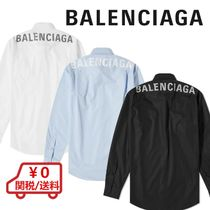 BALENCIAGA Button-down Street Style Long Sleeves Cotton