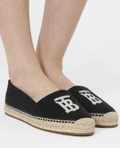 Burberry Casual Style Street Style Plain Logo Slip-On Shoes