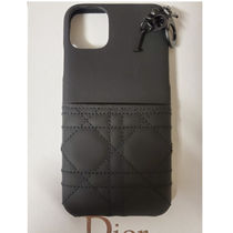 Christian Dior LADY DIOR Leather Logo iPhone 11 Pro Max Smart Phone Cases