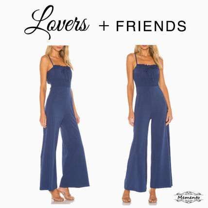 Casual Style A-line Denim Sleeveless Plain Long Party Style