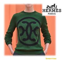 HERMES Crew Neck Cashmere Long Sleeves Cashmere