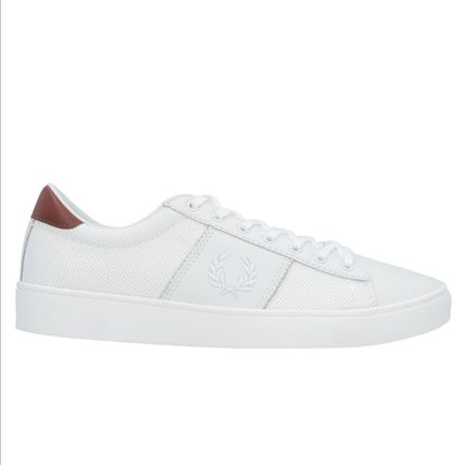 Unisex Plain Leather Low-Top Sneakers