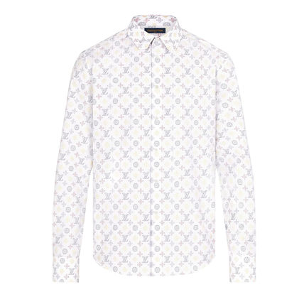 Louis Vuitton Button-down Monogram Long Sleeves Cotton Logo Luxury Shirts