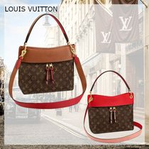 Louis Vuitton TUILERIES Monogram Casual Style Calfskin Canvas Blended Fabrics