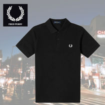 FRED PERRY Unisex Plain Short Sleeves Logo Polos