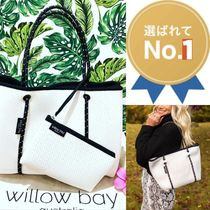 willow bay Gingham Unisex A4 Shoppers