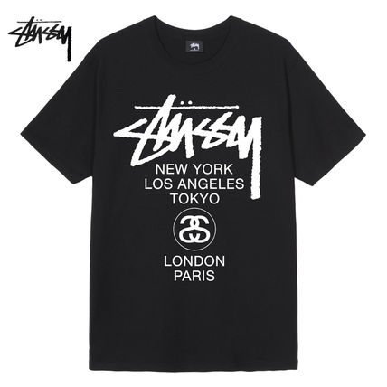 STUSSY More T-Shirts Street Style Logo Skater Style Graphic Prints T-Shirts