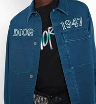 DIOR HOMME Shirts Button-down Denim Street Style Long Sleeves Logo Shirts 11
