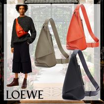 LOEWE Unisex Calfskin Street Style 2WAY Plain Crossbody Bag