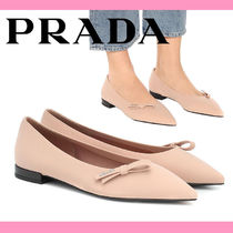 PRADA Plain Bridal Icy Color Ballet Shoes