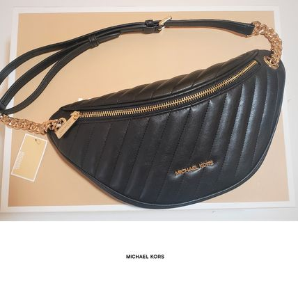 Michael Kors Casual Style Street Style Plain Leather Bags