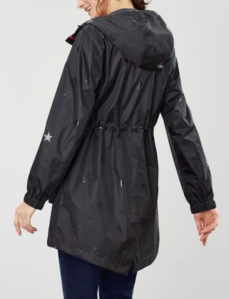 Star Street Style Plain Nylon Jacket  Umbrellas & Rain Goods