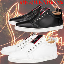 Christian Louboutin Studded Street Style Leather Logo Sneakers