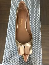 Salvatore Ferragamo Office Style Elegant Style Metallic Pointed Toe Shoes