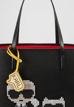 Karl Lagerfeld Casual Style Street Style Plain Totes