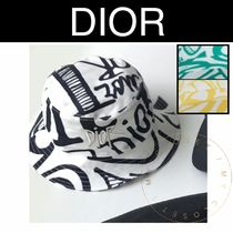 Christian Dior Street Style Handmade Bucket Hats Wide-brimmed Hats