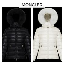 MONCLER BADYFUR Street Style Plain Medium Logo Down Jackets