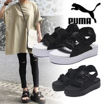 PUMA Open Toe Casual Style Street Style Plain Logo Sandals