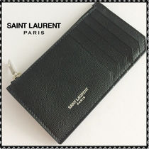 Saint Laurent Plain Leather Coin Cases