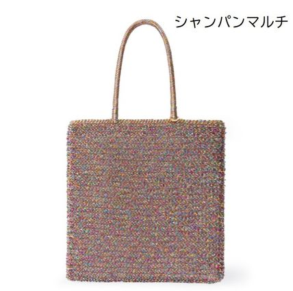 Casual Style A4 Plain PVC Clothing Elegant Style Totes