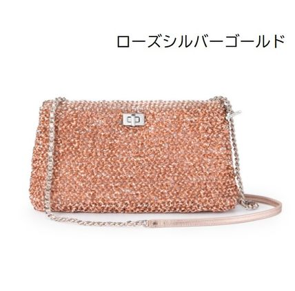 Casual Style 2WAY Plain PVC Clothing Elegant Style Crossbody