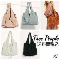 Free People Casual Style Street Style Plain Leather Totes
