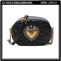 Dolce & Gabbana Chain Leather With Jewels Elegant Style Crossbody