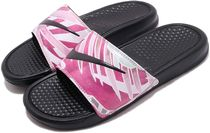 Nike BENASSI Tropical Patterns Casual Style Street Style Shower Shoes