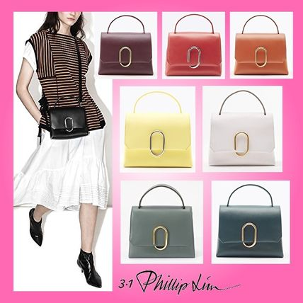Casual Style Blended Fabrics Plain Leather Party Style