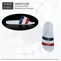 MONCLER Casual Style Shower Shoes Elegant Style Logo Flat Sandals