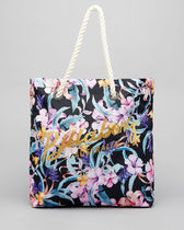 Billabong Flower Patterns Casual Style Street Style A4 Logo Totes