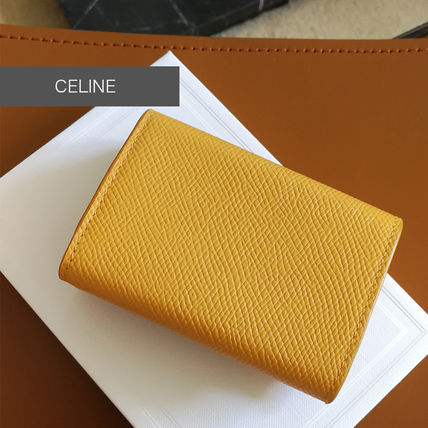 CELINE Folded Compact Wallet In Triomphe Canvas And Lambskin