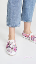 Keds Flower Patterns Round Toe Rubber Sole Casual Style Logo