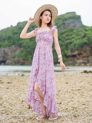 Flower Patterns Maxi Long Dresses