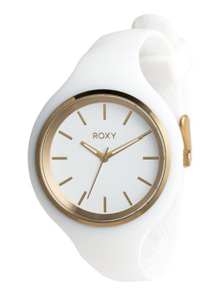 ROXY Casual Style Silicon Round Quartz Watches Analog Watches