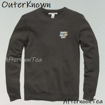 Ron Herman Sweatshirts Crew Neck Pullovers Long Sleeves Plain Handmade Surf Style 4