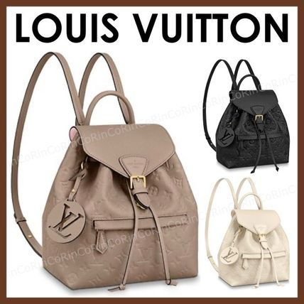 Louis Vuitton Monogram Leather Logo Backpacks