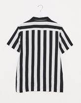 ASOS Stripes Street Style Bi-color Short Sleeves Shirts