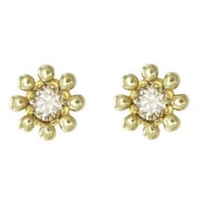 Casual Style Flower Handmade Party Style 14K Gold