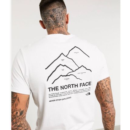 THE NORTH FACE More T-Shirts Street Style Plain Cotton Short Sleeves Logo Outdoor 2