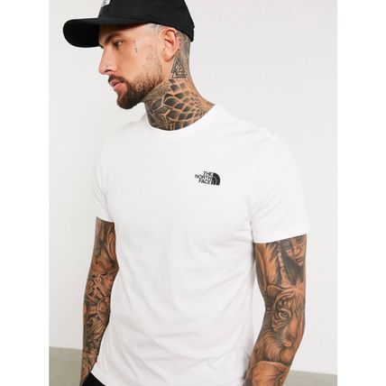 THE NORTH FACE More T-Shirts Street Style Plain Cotton Short Sleeves Logo Outdoor 3