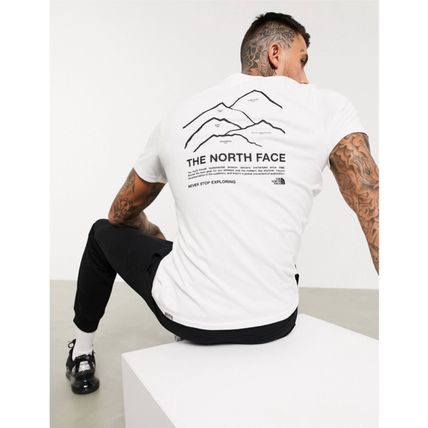 THE NORTH FACE More T-Shirts Street Style Plain Cotton Short Sleeves Logo Outdoor 4