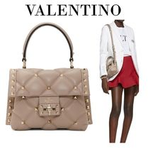 VALENTINO Studded 2WAY Plain Party Style Elegant Style Crossbody