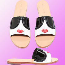 Alice+Olivia Open Toe Casual Style Street Style Leather Sport Sandals