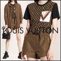 Louis Vuitton MONOGRAM Crew Neck Short Monogram Blended Fabrics Bi-color Chain