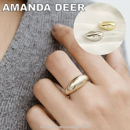 Casual Style Silver 14K Gold Elegant Style Fine