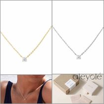 aleyole Casual Style Party Style Silver 18K Gold Elegant Style